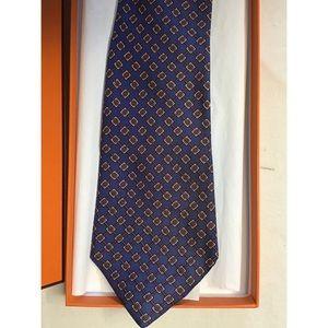 🛍Authentic HERMES Blue Print Tie